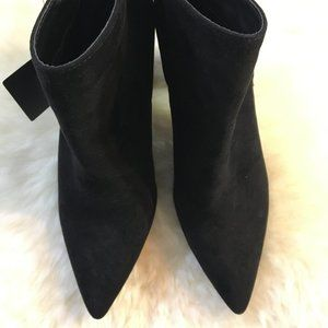 NEW Forever 21 Black Suede Point Toe Booties 7.5